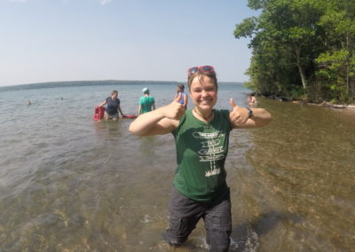 Thumbs up on Lake Superior