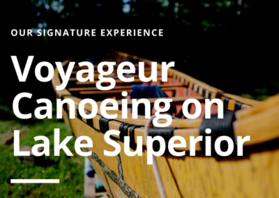 Voyageur Canoeing on Lake Superior