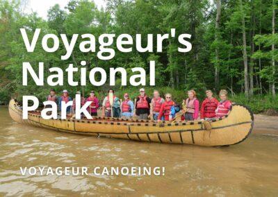 Voyageur Canoeing in Voyageur's National Park