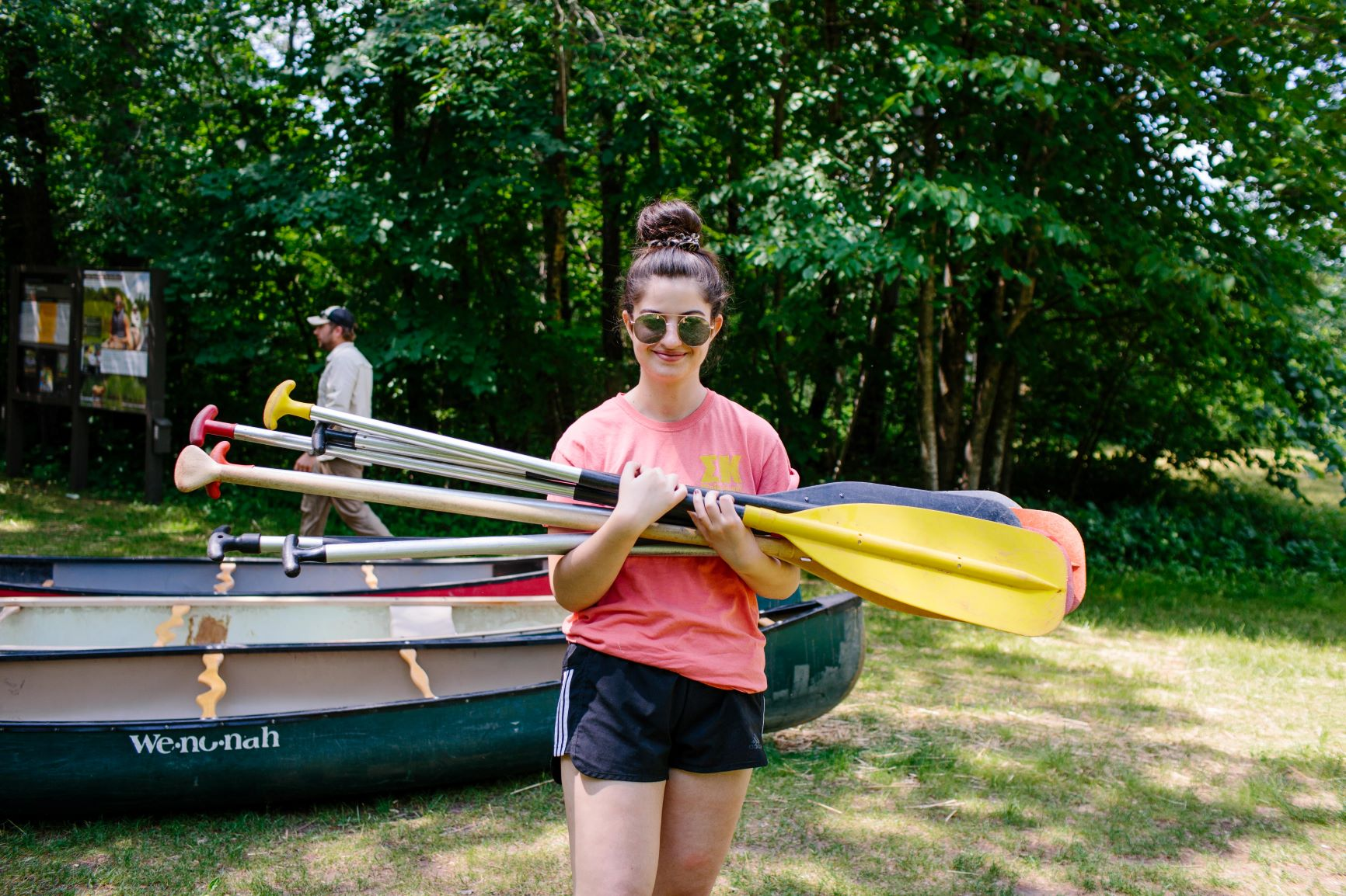 Preparing for a canoe adventure!