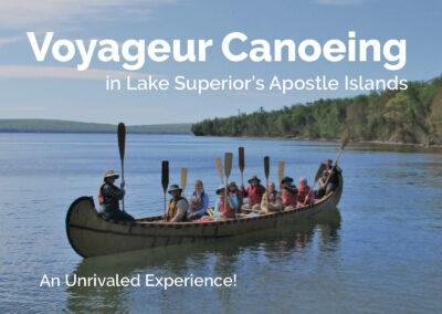 Voyageur Canoeing on Lake Superior